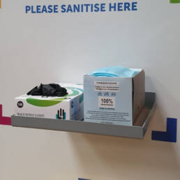 Sanistation shelf