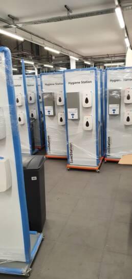 NHS Freestanding SaniStation Hygiene Station