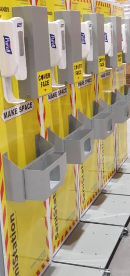 NHS Freestanding SaniStation with Mask Dispenser